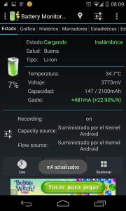 Cargando bateria modo inalambrico